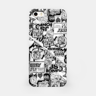 Thumbnail image of Black and White Urban Collage Print iPhone Case, Live Heroes