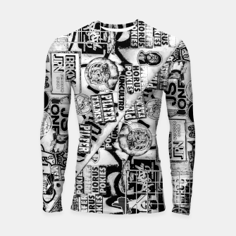 Miniatur Black and White Urban Collage Print Longsleeve rashguard , Live Heroes