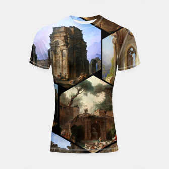 Imagen en miniatura de Old Masters Paintings VOL 02 Architecture Shortsleeve rashguard, Live Heroes