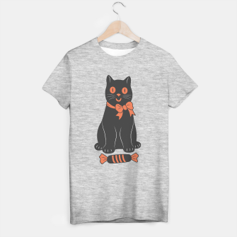 Thumbnail image of Dark Candy Cat on Halloween T-shirt regular, Live Heroes