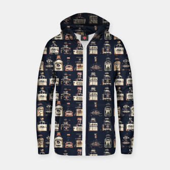 Thumbnail image of Alcoholic Drinks Pattern Zip up hoodie, Live Heroes