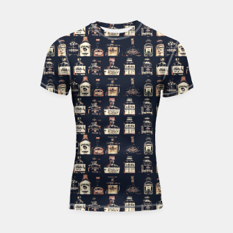 Alcoholic Drinks Pattern Shortsleeve rashguard thumbnail image