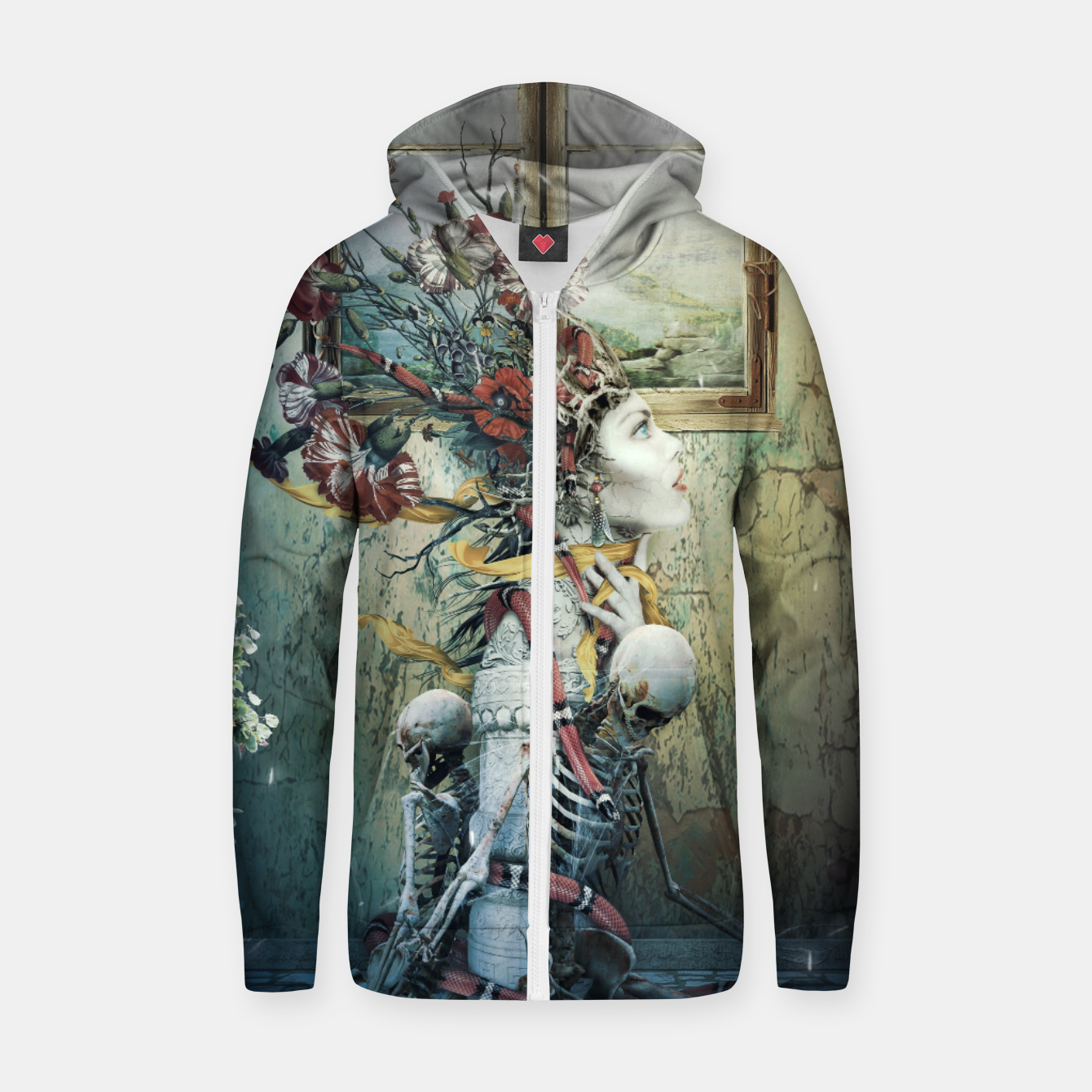 Image de Life in Death Zip up hoodie - Live Heroes
