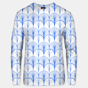 Thumbnail image of Art Deco Blue Unisex sweater, Live Heroes