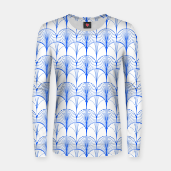 Thumbnail image of Art Deco Blue Women sweater, Live Heroes