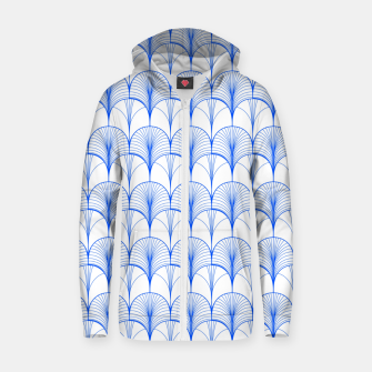 Thumbnail image of Art Deco Blue Zip up hoodie, Live Heroes