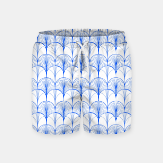Thumbnail image of Art Deco Blue Swim Shorts, Live Heroes