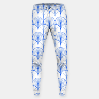 Thumbnail image of Art Deco Blue Sweatpants, Live Heroes