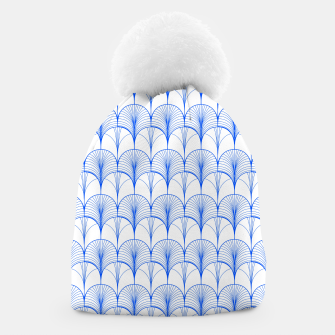 Thumbnail image of Art Deco Blue Beanie, Live Heroes