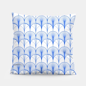 Thumbnail image of Art Deco Blue Pillow, Live Heroes