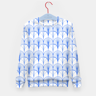 Thumbnail image of Art Deco Blue Kid's sweater, Live Heroes