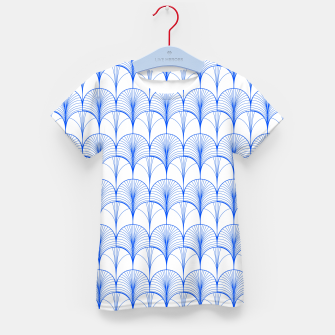 Thumbnail image of Art Deco Blue Kid's t-shirt, Live Heroes