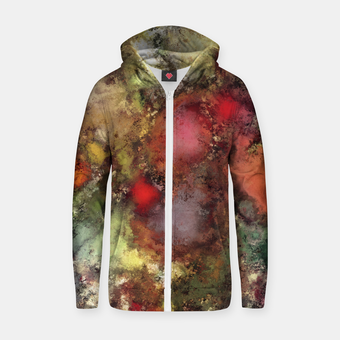 Image of A natural collision of rocks Zip up hoodie - Live Heroes