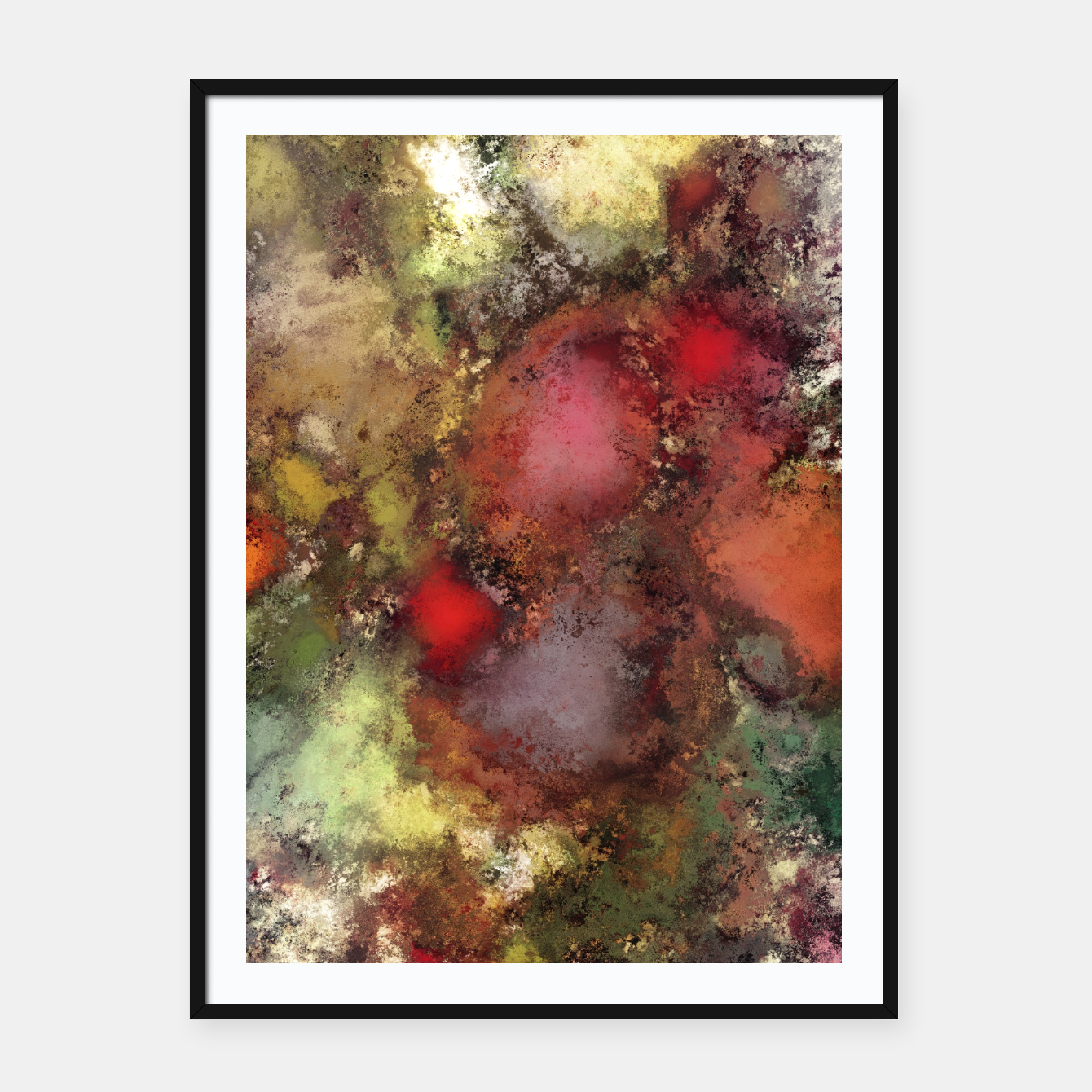 Image of A natural collision of rocks Framed poster - Live Heroes