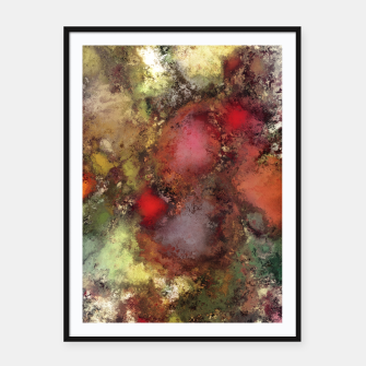 A natural collision of rocks Framed poster thumbnail image