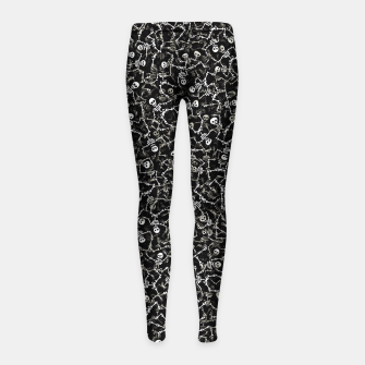 Thumbnail image of Skeletons Girl's leggings, Live Heroes