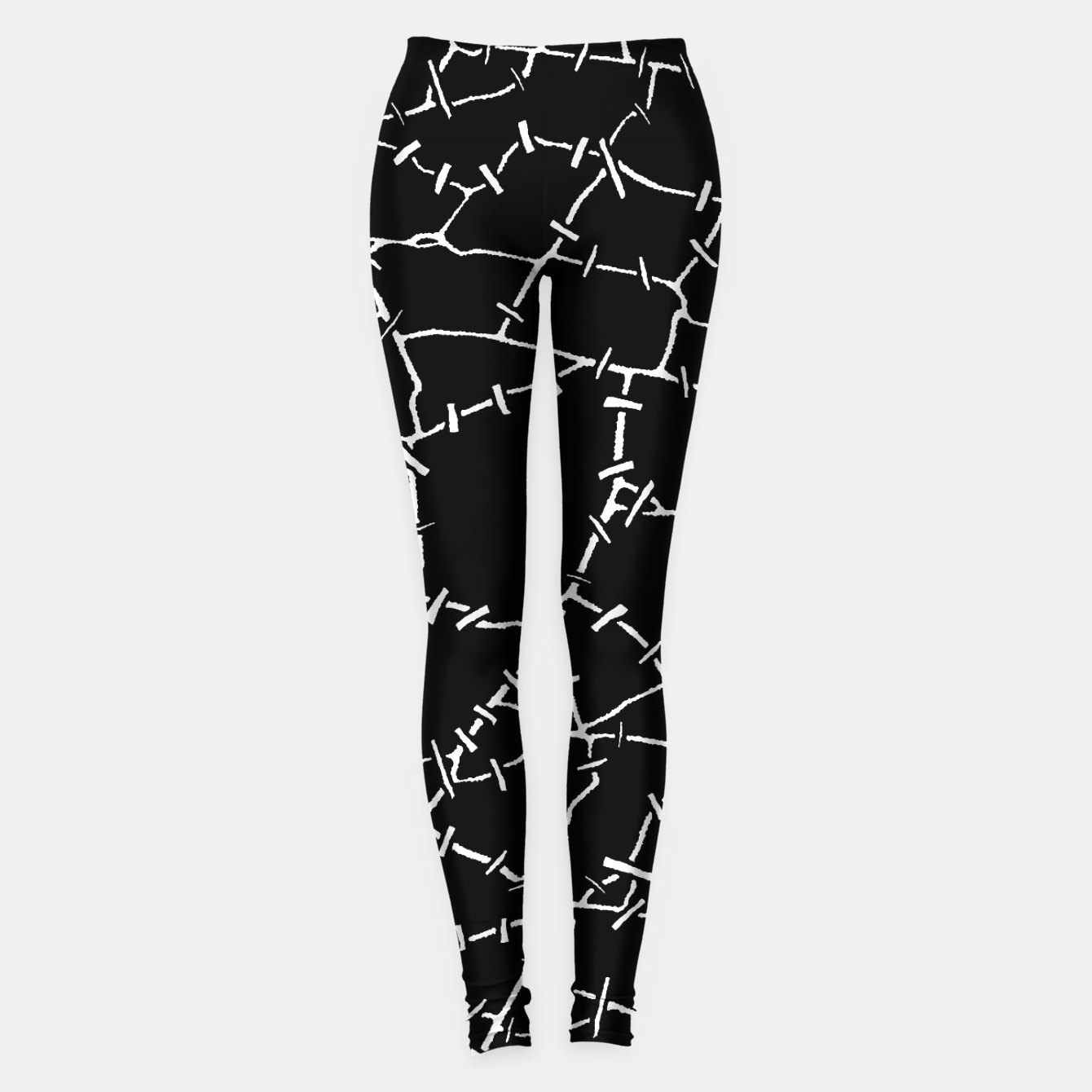 Image of Undead Zombie Stitch Voodoo Halloween Pattern Leggings - Live Heroes