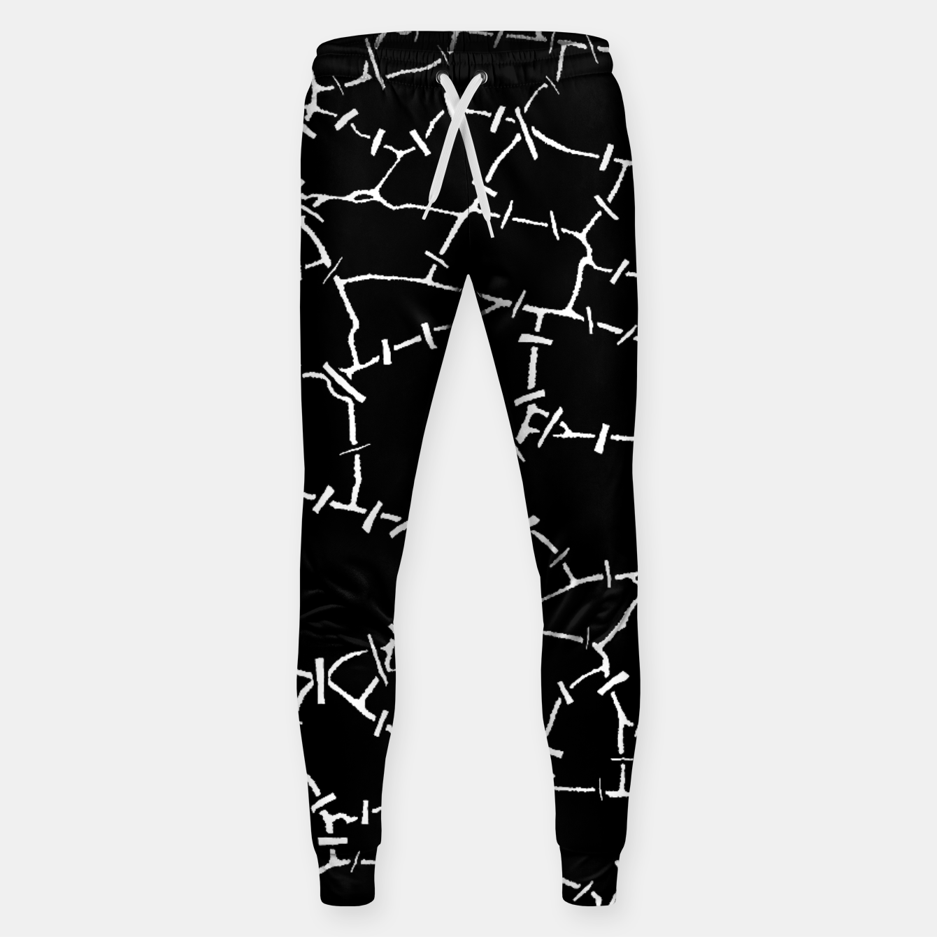 Image of Undead Zombie Stitch Voodoo Halloween Pattern Sweatpants - Live Heroes