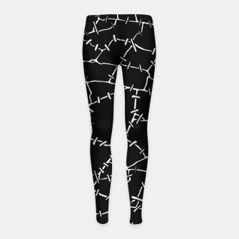 Undead Zombie Stitch Voodoo Halloween Pattern Girl's leggings thumbnail image