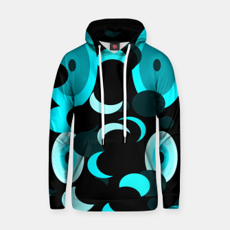 Miniatur black blue turquoise planets and moons Hoodie, Live Heroes