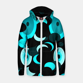 Miniatur black blue turquoise planets and moons Zip up hoodie, Live Heroes