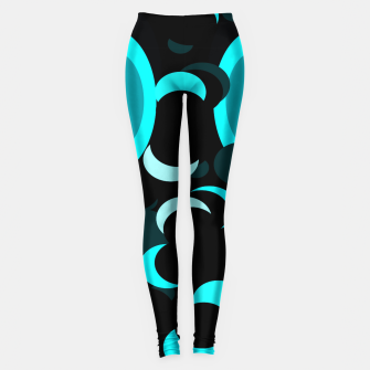 Miniaturka black blue turquoise planets and moons Leggings, Live Heroes