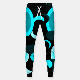 Miniatur black blue turquoise planets and moons Sweatpants, Live Heroes