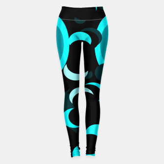 Thumbnail image of black blue turquoise planets and moons Leggings, Live Heroes