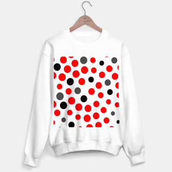 Thumbnail image of black red grey white dots on white background Sweater regular, Live Heroes