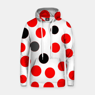 Thumbnail image of black red grey white dots on white background Hoodie, Live Heroes