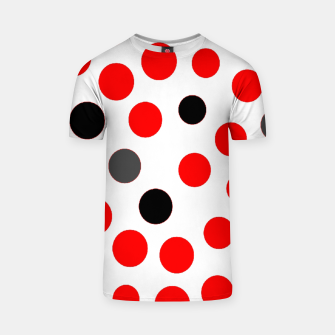 Thumbnail image of black red grey white dots on white background T-shirt, Live Heroes