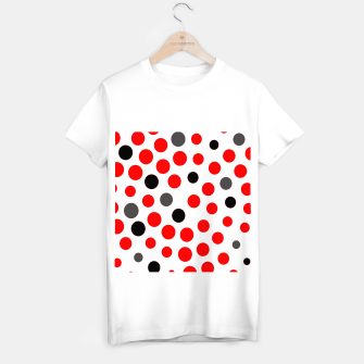 Thumbnail image of black red grey white dots on white background T-shirt regular, Live Heroes
