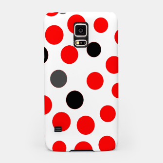 Thumbnail image of black red grey white dots on white background Samsung Case, Live Heroes