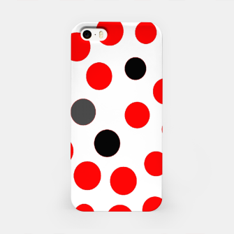 Thumbnail image of black red grey white dots on white background iPhone Case, Live Heroes