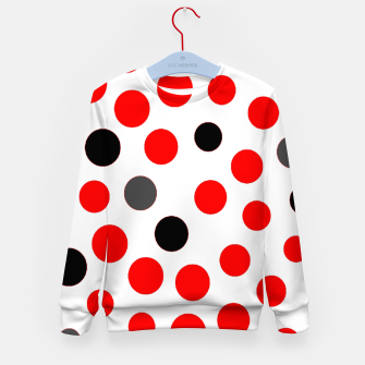 Thumbnail image of black red grey white dots on white background Kid's sweater, Live Heroes