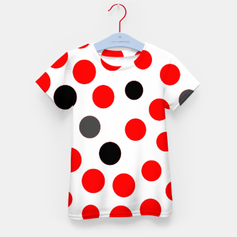 Thumbnail image of black red grey white dots on white background Kid's t-shirt, Live Heroes