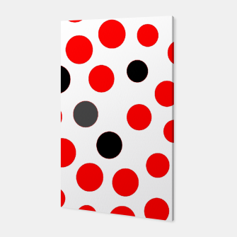 Thumbnail image of black red grey white dots on white background Canvas, Live Heroes