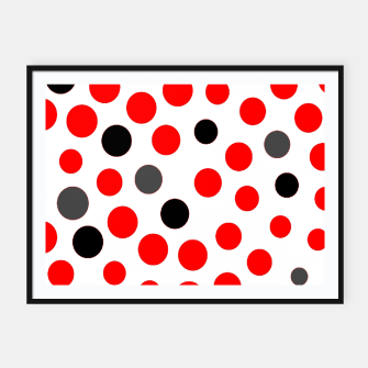 Thumbnail image of black red grey white dots on white background Framed poster, Live Heroes
