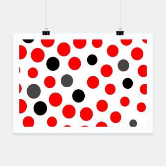 Thumbnail image of black red grey white dots on white background Poster, Live Heroes