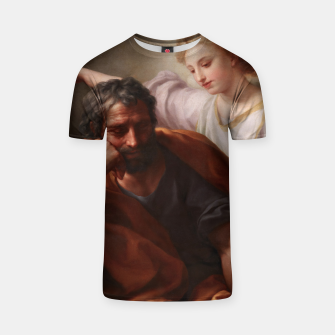 Thumbnail image of The Dream of St. Joseph by Anton Raphael Mengs T-shirt, Live Heroes