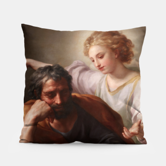 Thumbnail image of The Dream of St. Joseph by Anton Raphael Mengs Pillow, Live Heroes