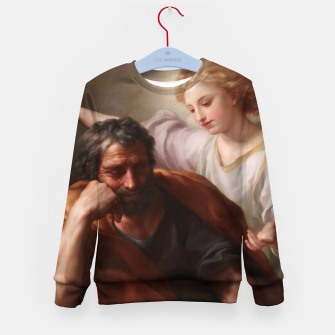 Thumbnail image of The Dream of St. Joseph by Anton Raphael Mengs Kid's sweater, Live Heroes