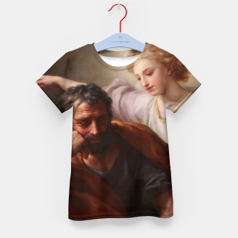 Thumbnail image of The Dream of St. Joseph by Anton Raphael Mengs Kid's t-shirt, Live Heroes