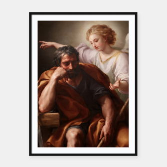 Thumbnail image of The Dream of St. Joseph by Anton Raphael Mengs Framed poster, Live Heroes