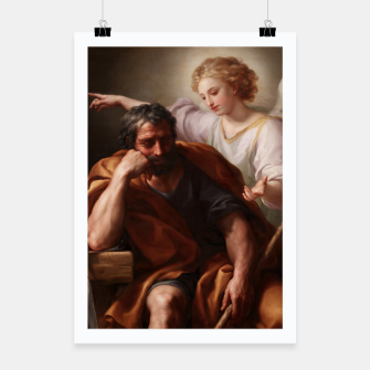 Thumbnail image of The Dream of St. Joseph by Anton Raphael Mengs Poster, Live Heroes