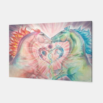 Thumbnail image of MYSTICAL HORSES - TWIN FLAME - DH Canvas, Live Heroes