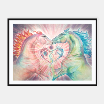 Thumbnail image of MYSTICAL HORSES - TWIN FLAME - DH Plakaty w ramie , Live Heroes