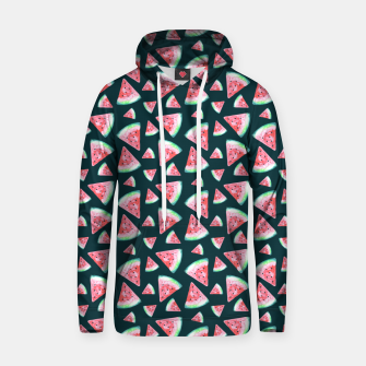 Imagen en miniatura de Watermelon Pattern-Dark Green and Coral Hoodie, Live Heroes