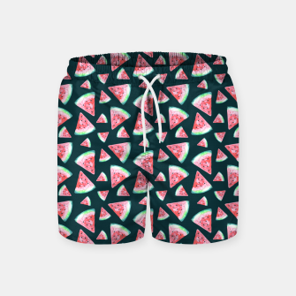 Imagen en miniatura de Watermelon Pattern-Dark Green and Coral Swim Shorts, Live Heroes