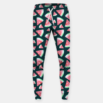 Imagen en miniatura de Watermelon Pattern-Dark Green and Coral Sweatpants, Live Heroes